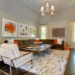modern family room by Karen Bowen Interiors