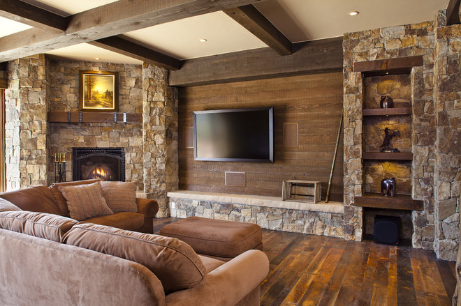 Eclectic Family Room by Kogan Builders