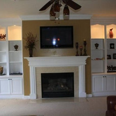 Traditional Family Room by Kreg's Custom Carpentry