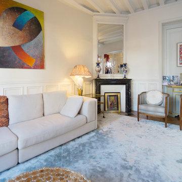 L'appartement de Julia à  Paris - Salle de séjour