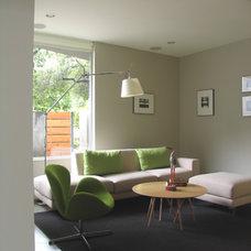 Modern Family Room La Canada Den