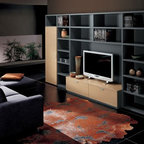 Eco Friendly Bamboo Wall Unit Modern Living Room New