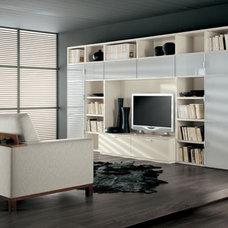 Contemporary Family Room by ladimoradesign.com