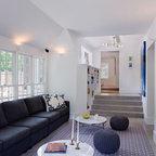 The Sandberg Home Beach Style Family Room Orange