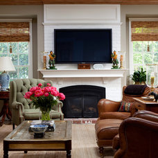 Traditional Family Room by Kathleen Burke Design