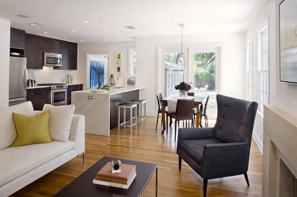 Modern Family Room by Texas Construction Company
