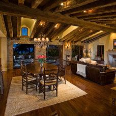 Mediterranean Family Room by GRADY-O-GRADY Construction & Development, Inc.