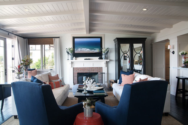 Traditional Family Room by Darci Goodman Design