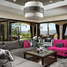Contemporary Living Room by Dora Brigham Interiors