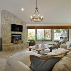 Beach Style Family Room by Robin Gonzales Interiors