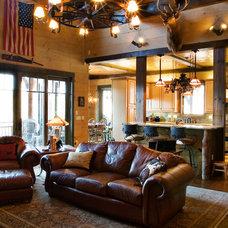Traditional Family Room by Timberlake Custom Homes, LLC