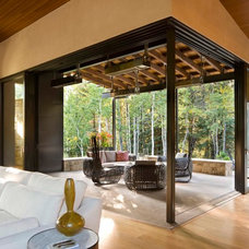 Contemporary Family Room by Krueger Architecture & Design
