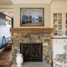 Traditional Family Room by Ron Brenner Architects