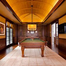 Traditional Family Room by Downey Szafarz Architects