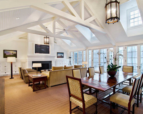 75 Traditional Beige Living Space Design Ideas Stylish