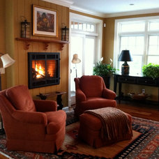 Traditional Family Room by Diana L. Frucci ASID