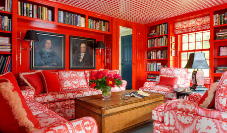 Room of the Day: Black, White and Red All Over