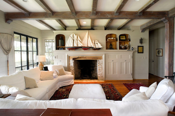 Rustic Family Room by Durrett Homes