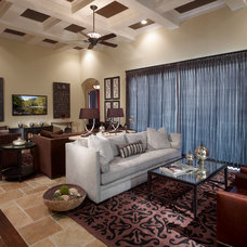 Traditional Family Room by Roman Interior Design