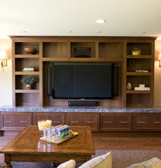 contemporary media room by Shane D. Inman