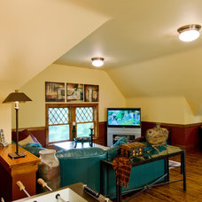 Traditional Family Room by Aulik Design Build