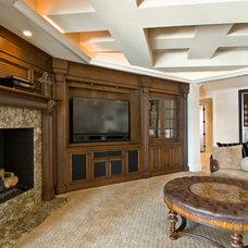 Mediterranean Family Room by Arcadia Custom Homes & Renovations