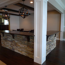 Contemporary Family Room by Probuilt Woodworking LLC