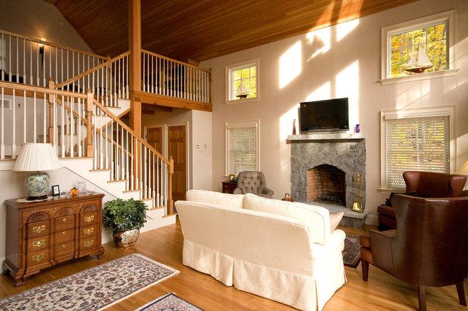 Traditional Family Room by Bonin Architects &  Associates