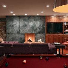 Contemporary Family Room by jones   haydu