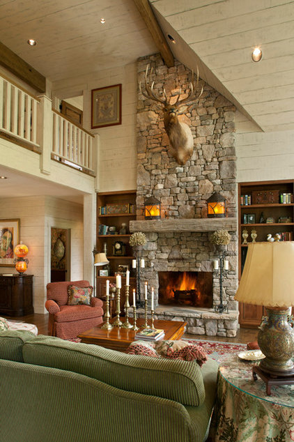 Traditional Family Room by Kathryn Long, ASID