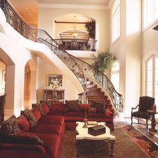 Mediterranean Family Room by Katz Builders, Inc.