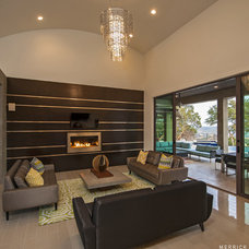 Contemporary Family Room by Design Visions of Austin