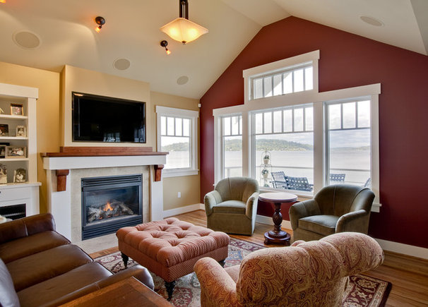 Traditional Family Room by Ventana Construction LLC