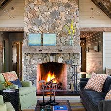 Contemporary Family Room by Kristina Crestin Design