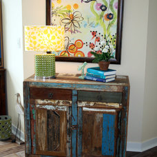 Eclectic Family Room by Bayberry Cottage