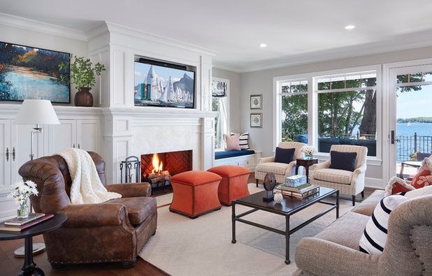 Beach Style Family Room by Hendel Homes