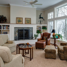 Traditional Family Room by Bay Cabinetry & Design Studio
