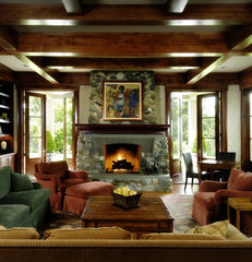 traditional family room by AOME Architects