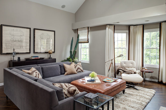 Contemporary Family Room by Lewis Giannoulias (LG Interiors)