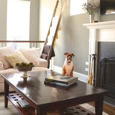 Traditional Family Room by Louise Johnston Design