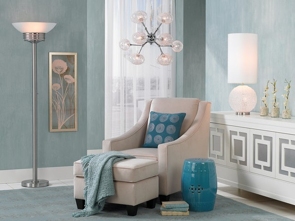 Contemporary Family Room by Lamps Plus