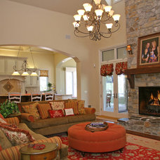 Family Room by Landmark Builders