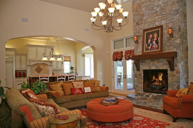 Family Room by Landmark Builders