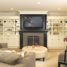 Traditional Family Room by Enviable Designs Inc.