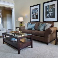 Traditional Family Room by Leigh Newport Staged by Design®