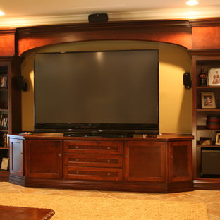 Large screen TV entertainment cabinets