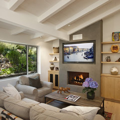 contemporary family room by Allen Associates