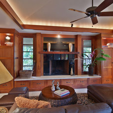 Tropical Family Room by Nina Williams Designs
