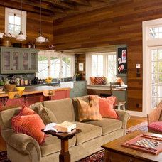 Traditional Family Room by Sandra Lindsay Design
