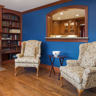 Lavishly detailed kitchen, dining room and family room in Arlington Va townhome